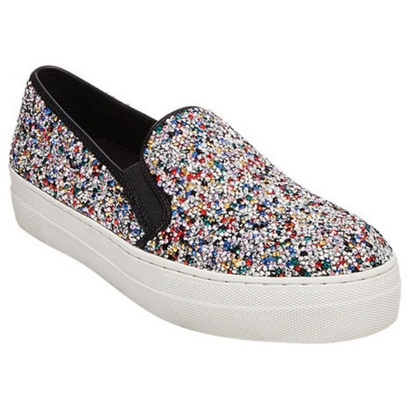 6378448a76c STEVE MADDEN Gracious Glitter Slip On Sneaker. M 5b124f38e944badb95ef756a